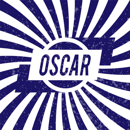 Name Oscar, graphic design elements.