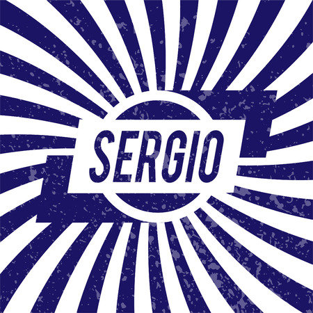 sergio: Name Sergio, graphic design elements.