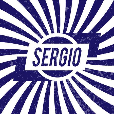sergio: Name Sergio, graphic design elements.