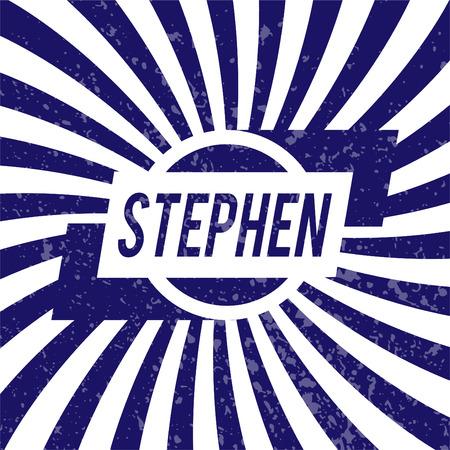 stephen: Name Stephen, graphic design elements.