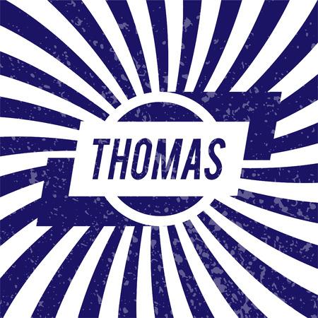 thomas: Name Thomas, graphic design elements.  Illustration
