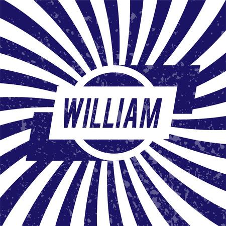 william: Name William, graphic design elements.