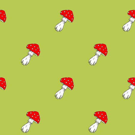 fly agaric: Fly agaric mushrooms seamless pattern.
