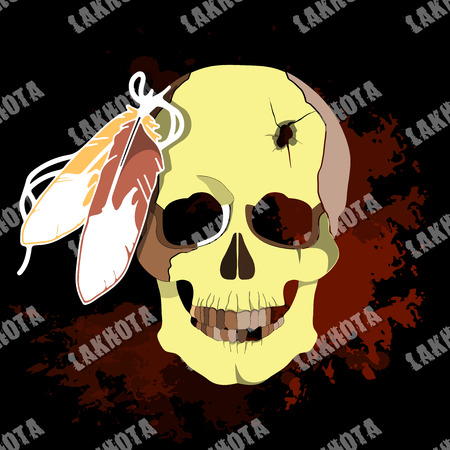 deceased: The deceased native American Lakhota. Conceptual vector illustration for print.