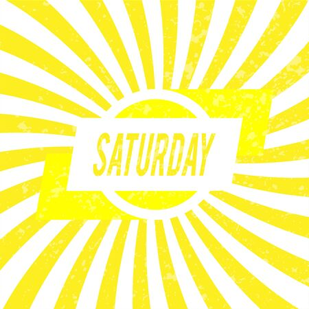 saturday: Saturday card for decoration.