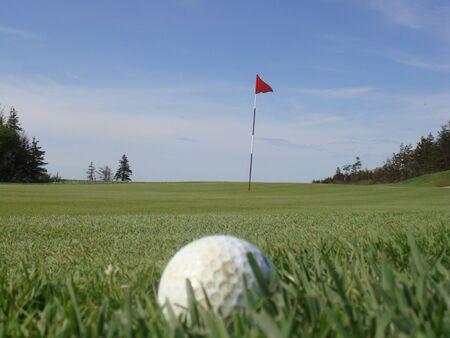 golf ball waiting Stok Fotoğraf