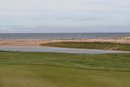 a look of the beach from the golf course