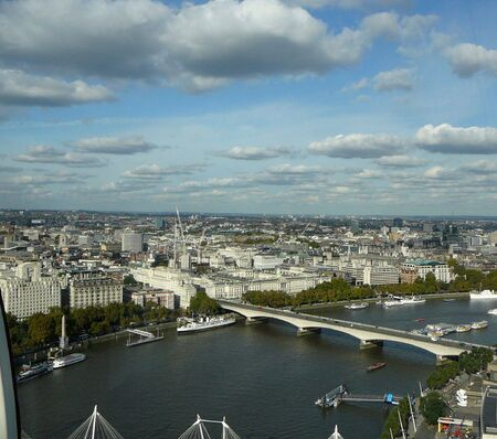 The an aerail view of London England