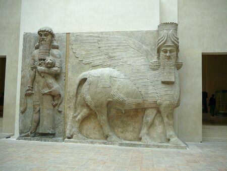 An example of Egyptian art at the museum