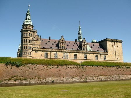 turrets: A picture of Kronborg Castle in Denmark Copenhahen Stock Photo