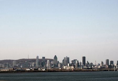 seaway: The waterfront view of Montreal Quebec,Canada