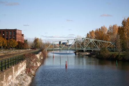 Le vie navigabili a Montreal conosciuto come Canale Lachine Archivio Fotografico - 3846673