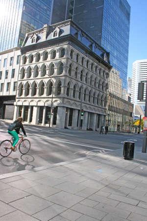Biker rides the streets Reklamní fotografie