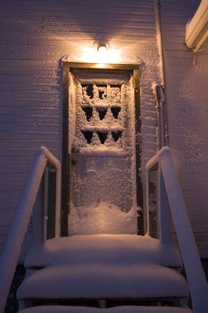 snowy stairway photo