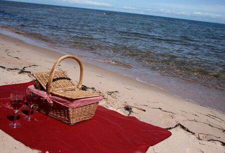 Beach Basket Reklamní fotografie