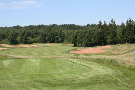 Golf Hole 版權商用圖片