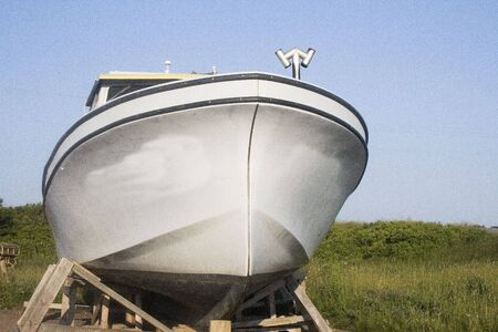lobster boat: Lobster Boat Stock Photo