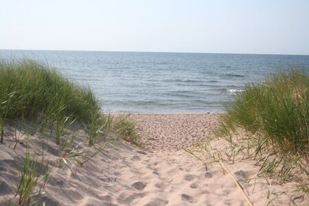 Chemin d'accès à la plage Banque d'images - 5253003