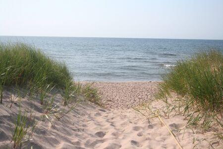 Pad naar het strand Stockfoto