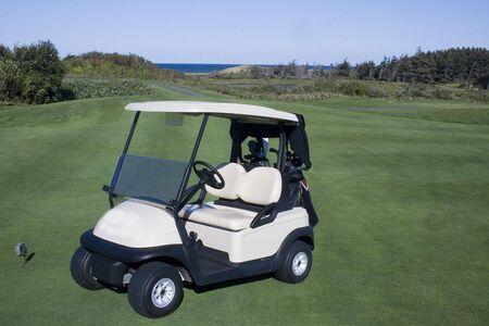 Chariot de golf Banque d'images - 5630512