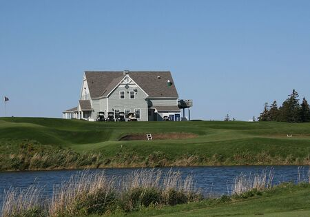 Clubhouse overlooks Pond
