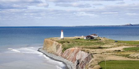 Magdalen Islands Lighthouse Stock Photo