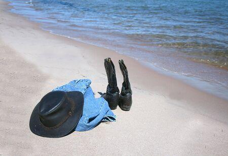 Clothes left on Beach