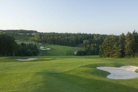 夕暮れゴルフ コース