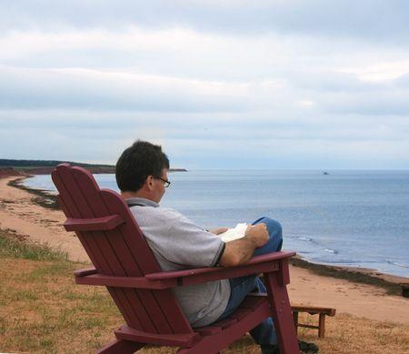 Man Reading Banco de Imagens