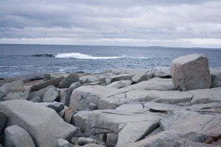 Rocks at Peggys Cove photo