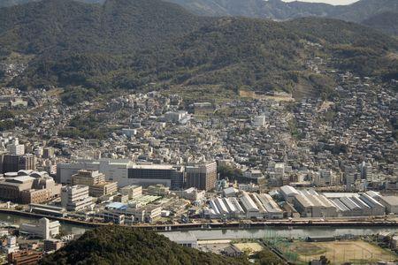 nagasaki: Aerial view of Nagasaki