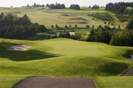 Visualizzazione di un campo da golf Archivio Fotografico - 6596675