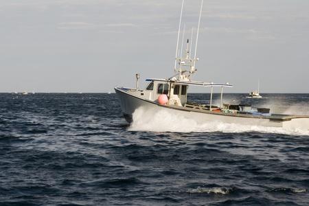 lobster boat: Lobster boat on the Atlantic
