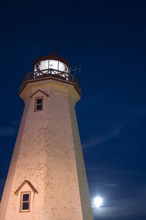 Lighthouse at Night photo