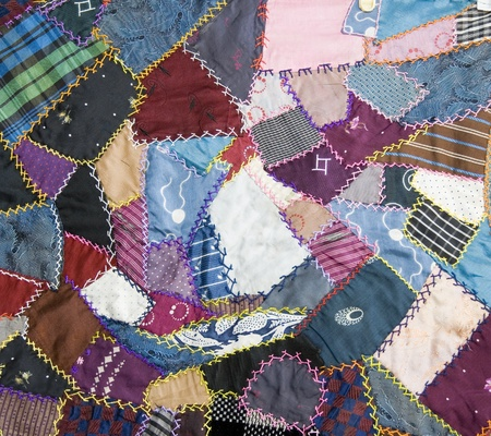 handmade abstract: patchwork quilt Stock Photo