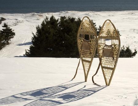 Racchette da neve in legno Archivio Fotografico - 12469832