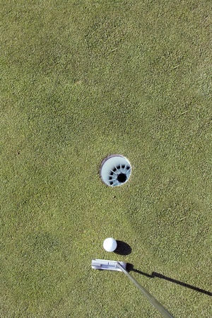 Putter and Golf Ball photo