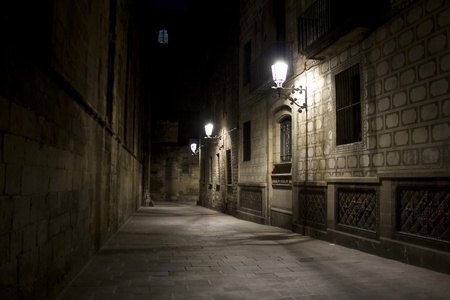 Street in Barcelona Stock fotó - 13345690