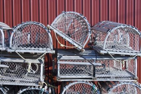 Lobster Traps Banque d'images