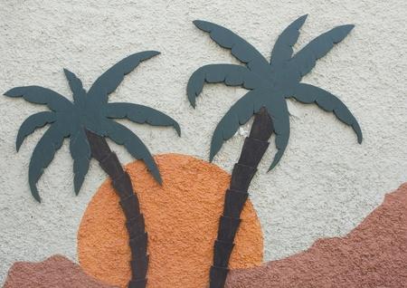 Palm Tree Sign Фото со стока