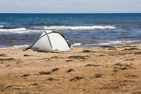 Tent on a beach photo