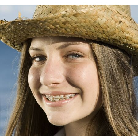 Teen with braces Stock Photo - 17395470