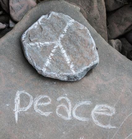 Peace written on a stone