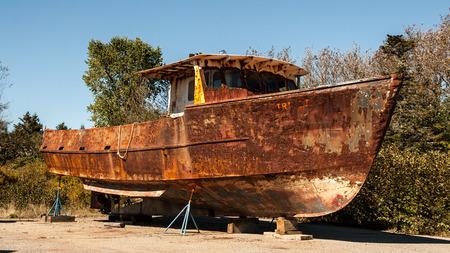 oxidado: oxidado barco