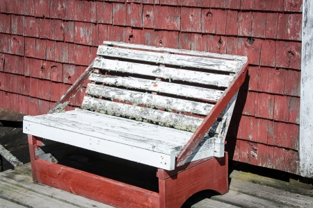 rickety: rickety wooden bench