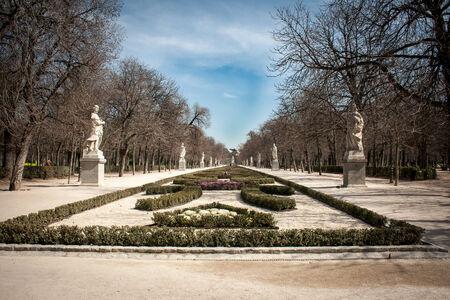 buen Retiro Park Madrid Stockfoto