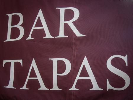 bar tapas sign