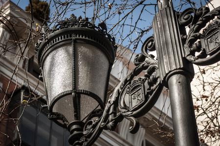 street lamp: Street lamp in Madrid