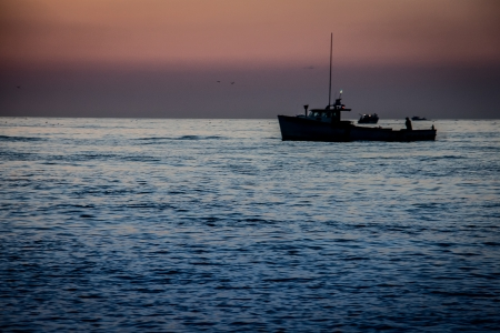 commercial fisheries: lobster fishing boat Stock Photo