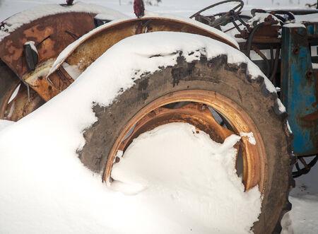 Tractor Wheel Stockfoto